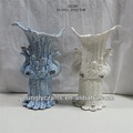 Cerámica de la porcelana de pavo real de la flor florero