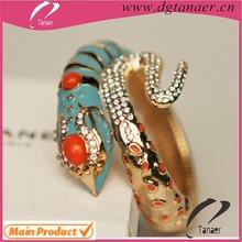 Wholesale bangle bracelet crystal jewelry enamel snake bracelet