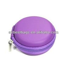 Practical round earphone headphone case/bag