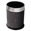 Cone Shape Leather Covered Hotel Room Dustbin