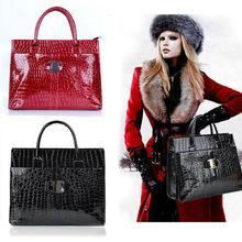 Europe Luxury OL Ladies Pattern Handbag PU Tote Shoulder Bag