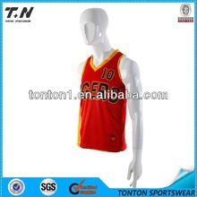 New style cheap customized adult printed basketball wear