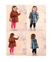 Fashon Children Autumn Clothing Cotton Baby Girl Stripe Dress Kids Wear for Girls 6 Pcs/LotsCS31204-5