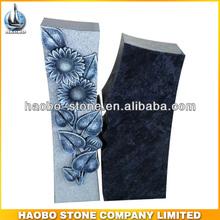 Haobo China Wholesale Sunflower Granite Stone Ledger Gravestone