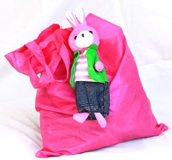 2015 cartoon animal foldable nylon mesh tote bag with 600d nylon