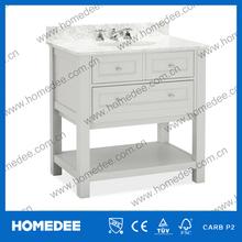 Rubber solid wood modern bathroom cabinet furniture