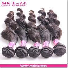100g each piece natural color 100% virgin brazilian remy hair