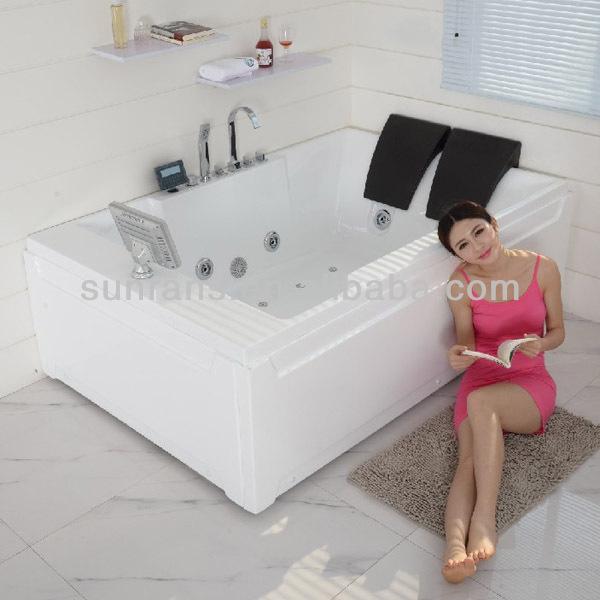 Acrylic solid surface massage bathtub dog grooming bathtub