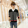 2013 New style mens winter fashion high quality cotton round collar casual korean thicken V neck men cardigan sweaters
