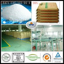 emulsifier for bitumen emulsion E471 China Large Manufacturer CAS:123-94-4,C21H42O4,HLB:3.6-4.0, 99%GMS