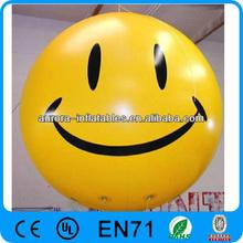smiled round ad inflatable helium balloon