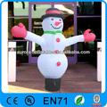hombre de nieve inflable de navidad ornamento