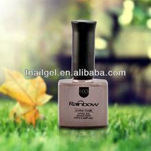 CCO 10ml Rainbow soak off glitter uv gel nail polish