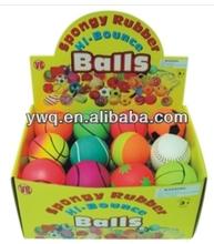 Foam Return Rubber Ball&Wrist Rubber Sport Ball&Rubber Bouncing Ball