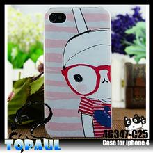 Big glass cartoon designs hard plastic cell phone cover