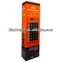 solar charging kits cardboard floor merchandising display