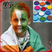 Irish face paint for st. patricks day