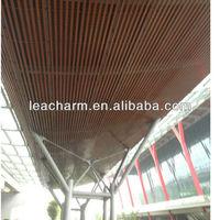 PE coated wood metal aluminum baffle/ screen ceiling panels box curtain ceiling