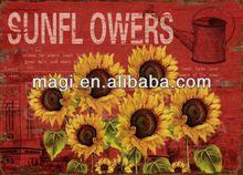 Hot Sale Sun Flowers Metal Wall Art Decor