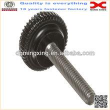 Knurled rim knobs screws