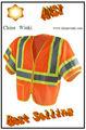 Best-seller na américa desgaste do trabalho ansi classe 3 3m fita refletiva de segurança de construção camisas de trabalho