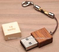 Wooden USB (cap type) 16GB Made in Korea