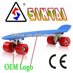 RiDGE Retro Skateboard Deck 22 Complete Plastic Board Penny Style Mini Cruiser