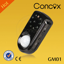 Security equipment GM01 home alarm gsm pir/ remote control hidden camera with PIR motion sensor for home safety