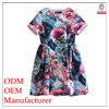 Factory high quality polyester printed summer dress model