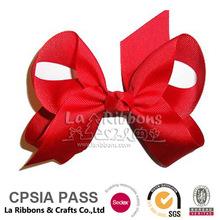 2014 New Red Grsgrain Ribbon Hair Bows