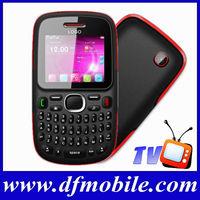 Brand 2.0 INCH QVGA Screen TV Quad Band Dual SM Card GPRS WAP Qwerty Keyboard Mobile Phone D101