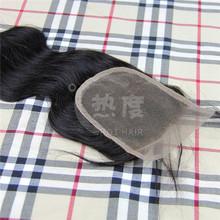 100% Unprocessed virgin mongolian hair extension virgin mongolian hair lace closure