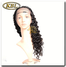 Fashion hair piece , deep wave brazilian hair full lace wig