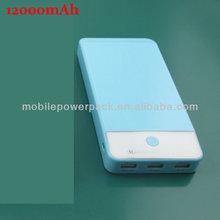 Pinsheng power bank 12,000 mah Smart Security Universal power bank 12,000 mah, shaking display power