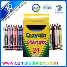 8.8cm 24 color non-toxic crayola crayon /mini crayola crayon /finger shape crayola crayon