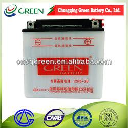 high quality Motocicleta Batteries/off road bike batteries china 12 v5ah (12N5-3B)
