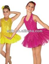 Children fancy high quality Sequin Spandex performance Dress