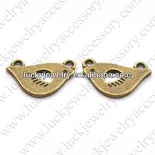 small metal bird charms