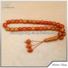 Caliente de moda turca granos de la resina de musulmanes del rosario de la resina rosarios islámico resina tasbih perlas