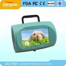 Mini 7 pulgadas portátil tv con dvd
