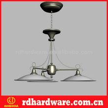 Glass cylinder art deco industrial lamp hanging led