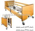 Cinco a-1 función eléctrico de hospital cama en la uci en mdf de madera y material