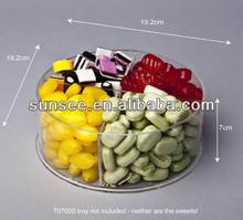 venda quente redondo e quadrado acrílico distribuidor de doces caixa