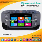 fiat punto autoradio gps 1 din support blue&me system