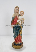 Religious Saint Mary resin home decoration statue