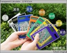 Solar power pocket calculator