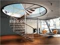 Moderno de acero inoxidable escaleras/para escalera de interior y al aire libre