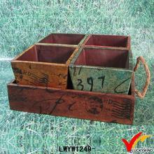 great gift antique handmade trayed wooden flower pot