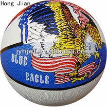 2014 china multi-color rubber basketball 5#