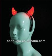 Party supply LED light up red devil horn